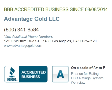 advantage gold bbb review