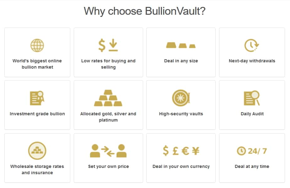 Benefits of using bullionvault.com